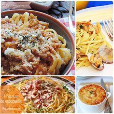 En casa, los espaguetis gustan siempre ¡con cualquier salsa! Cuando mi peque está en una de sus fases difíciles para comer, sé que debo hacer espaguetis porque ¡los come súper bien! Pensando justament