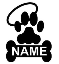 Paw Print Memory Decal Paw Print In Loving by CountryHeartDesignz