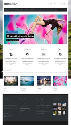 Spacecowboy - Multi-purpose WordPress Theme by Premium Themes, via Behance