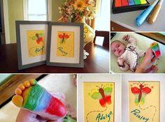 baby footprints butterflies (craft)