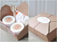 Soup and salad box for my wrapping party at Christmas...um yes please!