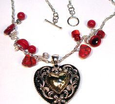 Big Heart Valentine's Day Pendant Necklace. $26.00, via Etsy.