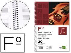 Bloc de musica Folio espiral Liderpapel  http://www.20milproductos.com/papeleria/blocs-y-cuadernos/bloc-de-musica-liderpapel-3.html