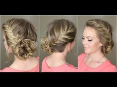 Fishtail French Braid Braided Bun - YouTube