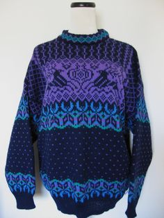 Vintage Reindeer Dale of Norway Wool Ski Sweater by Vntgfindz, $69.00