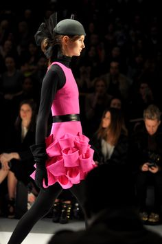 Milly 2012 F/W Collection this hot pink dress is a show stopper!