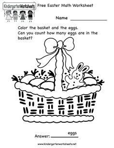 math worksheets   Easter Math Worksheets