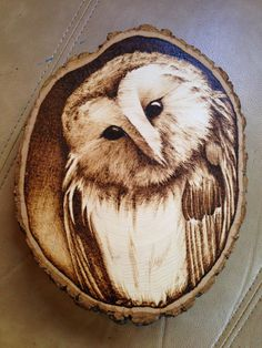 Owl woodburning by ArtsByNoble on Etsy