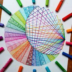 STABILO Pen 68 is a premium felt-tip pen that comes with a robust M-tip in 47 brilliant colors, including 6 fluorescent shades. Mandala Art Lesson, Mandala Artwork, Mandala Drawing, Art Drawings Beautiful, Cool Art Drawings, Colorful Drawings, Dibujos Zentangle Art, Zentangle Drawings, Sharpie Drawings