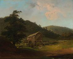 Gustavus Johann Grunewald, (1805-1878), Pike County, Pennsylvania, Saw Mill, 1848, oil on canvas