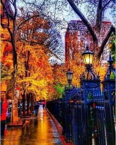 Gramercy Park, NYC in the fall