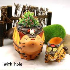 Succulent Planter Diy, Garden Planters, Planter Pots, Mini Fairy Garden, Big Garden, Fairy Gardens, Fairy Garden Accessories, Dollhouse Accessories, Totoro
