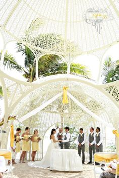 Gorgeous Ceremony Location Sandos Caracol in Mexico Destination Photographer Glitzz Photography