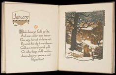 All the Year Round  James Whitcomb Riley. Indianapolis, 1916.  Color woodcut plates by Gustave Baumann. (4to), blue cloth, lettered in gilt, dust jacket.