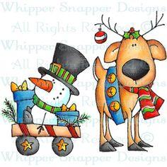 Dasher & Mini-Me - Christmas Images - Christmas - Rubber Stamps - Shop Christmas Graphics, Christmas Clipart, Christmas Printables, Christmas Pictures, Christmas Rock, Christmas Snowman, All Things Christmas, Christmas Ornaments, Christmas Doodles