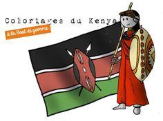 Coloriages BDG : L'afrique et le Kenya