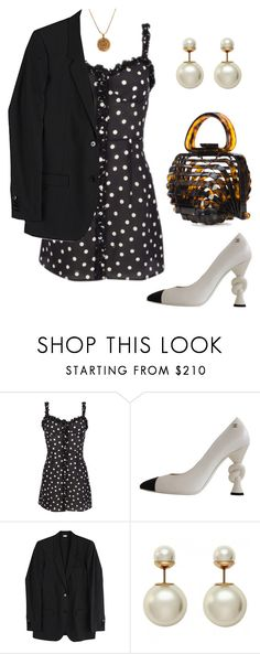 """Untitled #1911"" by lucyshenton ❤ liked on Polyvore featuring Chanel, Helmut Lang and Cult Gaia"