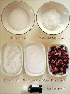 Sales de baño relajantes. DIY - Organicus