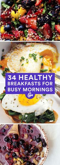Many of these healthy breakfast ideas are perfect for packing as snacks too! #healthy #breakfast #recipes…