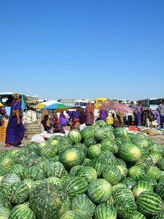 Watermelons! ... Ashgabat, Turkmenistan