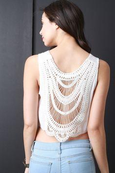 Crochet Lace Back Crop Top