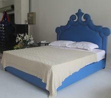 Últimas niños diseños de muebles de dormitorio cama azul pavo real para el hogar(China (Mainland))