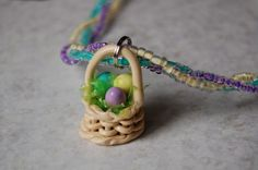 Polymer Clay Easter Basket Charm: How To