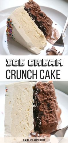 Homemade Ice Cream Crunch Cake This Homemade Ice Cream Cake recipe is better than a store bought one from Dairy Queen, guaranteed! Filled with Oreos and hot fudge, this delicious frozen dessert is sure to be a big crowd-pleaser! Oreo Dessert, Brownie Desserts, Ice Cream Desserts, Mini Desserts, Frozen Desserts, Ice Cream Recipes, Dessert Recipes, Ice Cream Cakes, Chocolate Ice Cream Cake