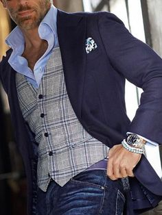 Great outfit by 👏 via Blazer Outfits Men, Casual Outfits, Fashion Outfits, Older Mens Fashion, Mens Fashion Suits, Business Casual Men, Men Casual, Marcelo Mello, Chaleco Casual