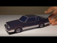 JCARWIL PAPERCRAFT 1984 Oldsmobile Cutlass 442 (Building Paper Model Car)…