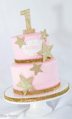 Twinkle Twinkle Little Star first birthday cake