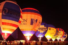 Kentucky Derby Festivities. balloon glow