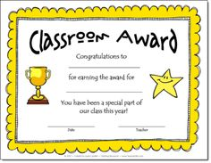 Classroom Award Tips and Freebies!  Most schools have some sort of award program at the end of the year to recognize students for achieving the Honor Roll, having perfect attendance, or excelling in other areas. Most of my students received an award, but there were always some who didn't receive anything at all. Typically these children were the very ones who had struggled all year and who were facing difficulties and a lack of parent support at home. I couldn't help but feel sorry for them…