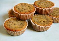 Muffins de limao e sementes de papoila