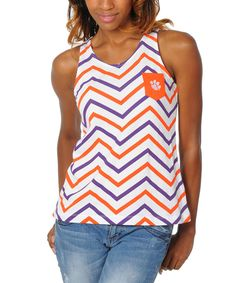 3e6a2a7433f11 This Clemson Tigers Chevron Tank - Women by University Girls Apparel is  perfect!  zulilyfinds