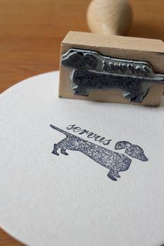 Stempel mit Dackel // stamp by ein Stück vom Glück via DaWanda.com