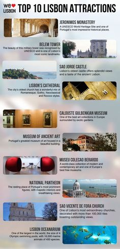 Check our top 10 Lisbon attractions, from UNESCO World Heritage sites to world-class museums, and get ready for a great holiday.