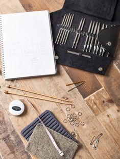Jared Flood of Brooklyn Tweed (BEAUTIFUL workspace, and he works with BEAUTIFUL tools.)