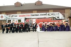 Firefighter wedding Gina Cristine Photography  This one should be done at your wedding Sami. Looks like a cute one.