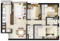Plantas de Casas até 80M2 - 20 Modelos - Decoração e Projeto