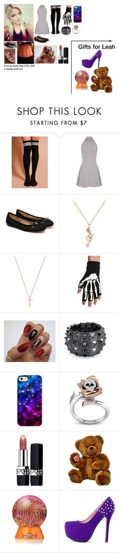 """""""Leah Party"""" by rhiannabliss on Polyvore featuring Sam Edelman, Gucci, Hot Topic, Bling Jewelry, Uncommon, Christian Dior and Benefit"""