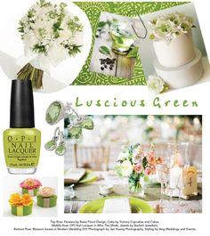 Luscious green #wedding theme. Credits available at http://www.modernwedding.com.au/luscious-green-wedding-inspiration/