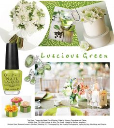 Luscious green #wedding theme. Credits available at http://www.modernwedding.com.au/luscious-green-wedding-inspiration/