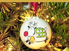 Personalised Christmas China Bauble