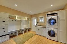 Love the idea of a laundry/mudroom combo. Also, I like the idea of drawers for hats, gloves, snow pants, etc- Minneapolis Remodel/Addition - traditional - laundry room - minneapolis - Highmark Builders Mudroom Laundry Room, Laundry Room Design, Laundry Area, Garage Laundry, Laundry Decor, Mudroom Cubbies, Mudroom Cabinets, Laundry Baskets, Diy Cabinets