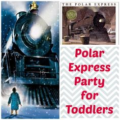 Throw a simple Polar Express party for toddlers. Tips on activities, snacks and organization. Polar Express Crafts, Polar Bear Express, Polar Express Activities, Polar Express Movie, Polar Express Theme, Polar Express Train, Preschool Christmas, Toddler Christmas, A Christmas Story