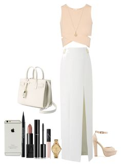 """Sin título #17"" by dreaminess ❤ liked on Polyvore featuring Amanda Wakeley, Jonathan Simkhai, NARS Cosmetics, Yves Saint Laurent, Bianca Pratt, Chanel, Smashbox, Nly Shoes, Lacoste and women's clothing"