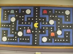 Pac Man Bulletin Board; would go great with pac man door decs - no matter how many paths there may be there is always a way to succeed!