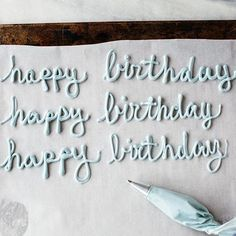 Writing on cakes: Use a small round piping tip and practice on parchment. (If frosting not available, use mustard.) When you go for the real thing, piping on firm (chilled) frosting will make it easier to fix mistakes, so stick the cake in the freezer for a few minutes before writing.