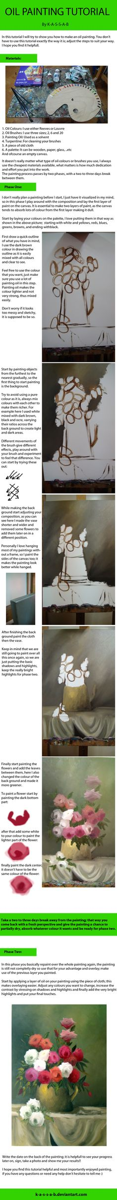 Oil Painting Tutorial by K-A-S-S-A-B.deviantart.com on @deviantART